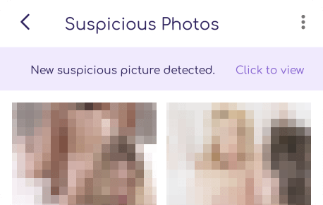 view suspicious photos on cell phone