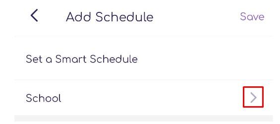 FamiSafe Smart Schedule - Enter a name