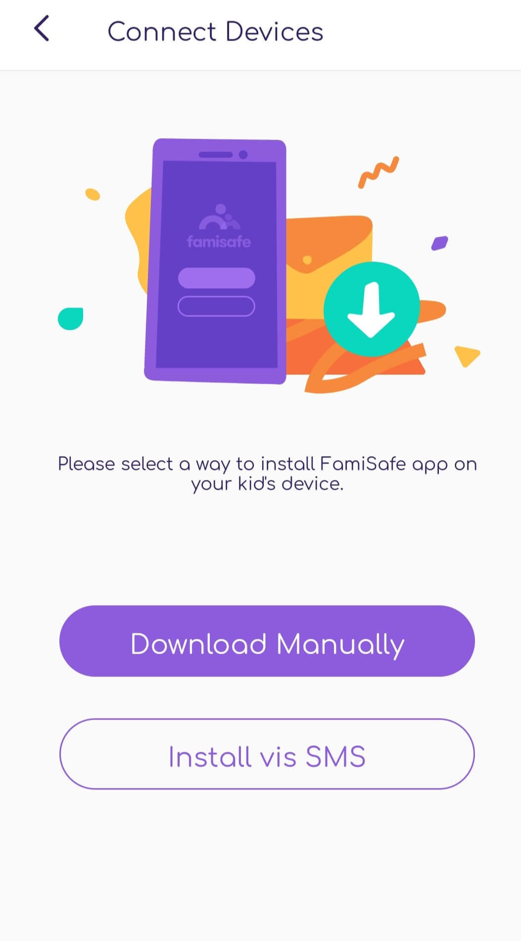 FamiSafe Connect a Device Download Method