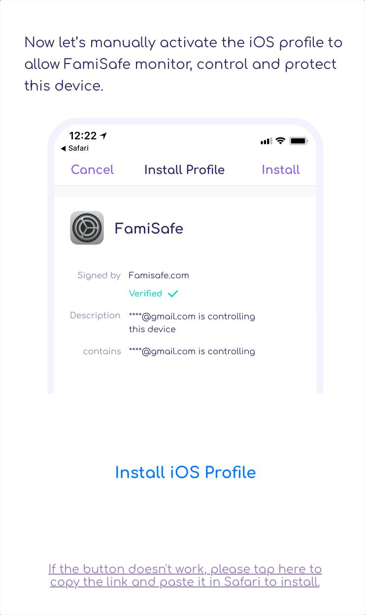 FamiSafe Install iOS Profile