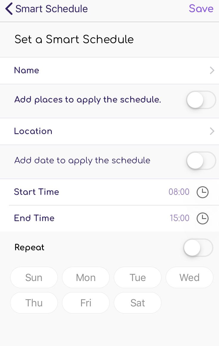 FamiSafe iOS Smart Schedule