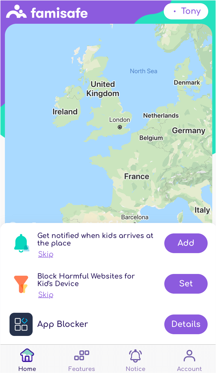 Check Kid's Device Usage via App